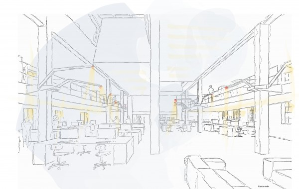 Industrielle Büroräume
